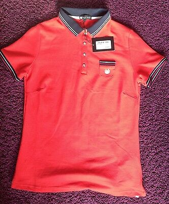 Palm grove Red Golf Polo Contrast Shirt, Ladies Size 12 NEW.