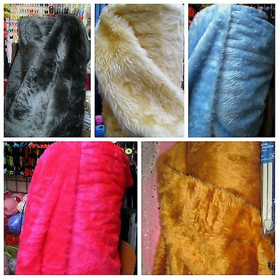FUR FABRICS-Short Pile Faux Fur Fabrics-Choice Of Colur,Sewing Requirments&Craft