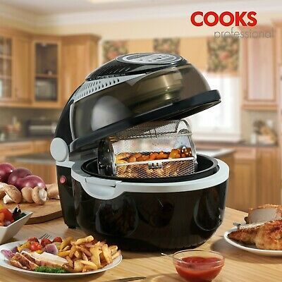 Cooks Professional Black 1300W Digital 10L Air Fryer Rotisserie Oven AirChef