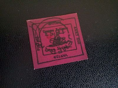 Old 1 cent guiana old stamp 1851,,copy