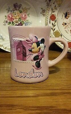 Disney Store Pink Minnie Mouse Embossed Style Mug - London 2003 (1)