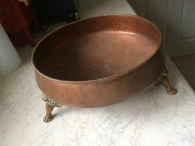 Copper Bowl, Hand Beaten, Arts and Crafts