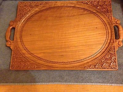 Burr Walnut Butlers Tray Two Handled