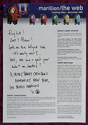 Marillion – The Web / Twisting Tales Volume 1 Issue 5, December / Christmas 2001