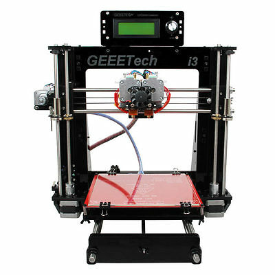 Geeetech Acrylic Prusa Dual Head Extruder MK8 Unassembled Kit