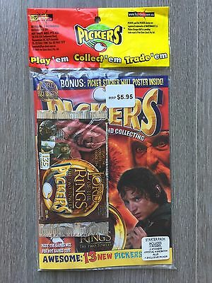 Rare Unopened Lord of the Rings Pickers Tazos K-Zone Handbook