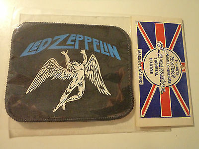 Vintage  LED ZEPPELIN  80s UNUSED PATCH  rock psych pink floyd no lp cd t shirt