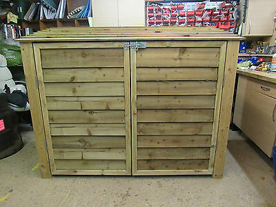 Large Heavy Duty Garden Shed/log Store With Doors  Not Flat Packed