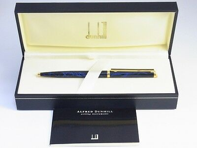 dunhill Gemline Marble Blue and Black Lacquer Ballpoint Pen NEW RARE