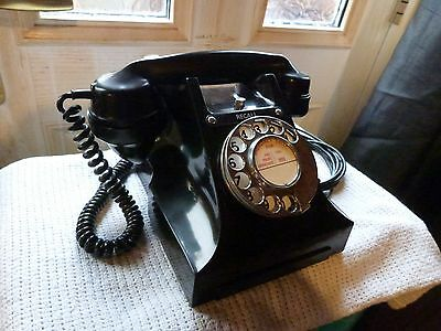 gpo 330F black bakelite telephone with recall button converted