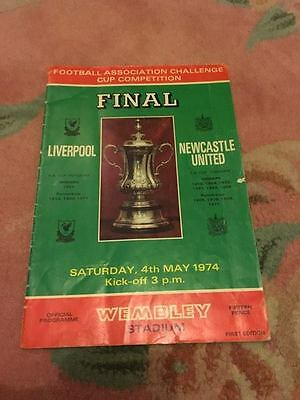 1974 FA Cup Final Official Programme (Liverpool v Newcaste Utd)