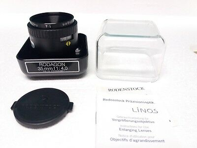 NUOVO!! Rodenstock Rodagon 35mm f4 M39 Brand New Enlarging Lens