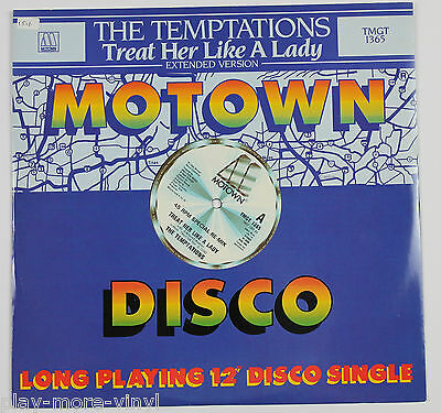 "THE TEMPTATIONS Treat Her Like A Lady 12"" vinyl UK 1984 Motown"
