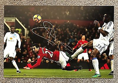 Henrikh Mkhitaryan Hand Signed 12x8 Photo Manchester United Autograph COA Proof