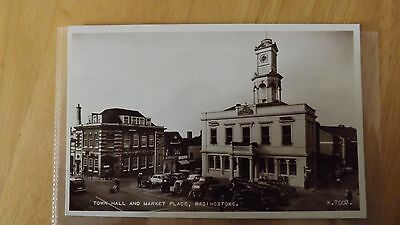 Postcard.Basingstoke,Hampshire.Town Hall & Market Place.