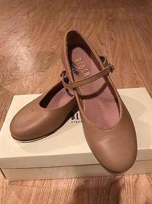 Block Size 5 tan tap shoes student tap Beige Bloch girls and women