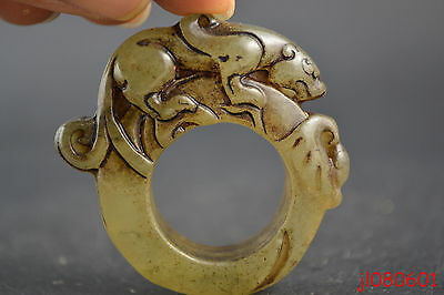 Old Jade Chinese Thumb Ring /  Pendant