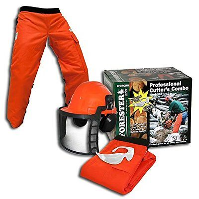 Forester OEM Arborist Forestry Professional Cutter's Combo Kit Chaps Helmet