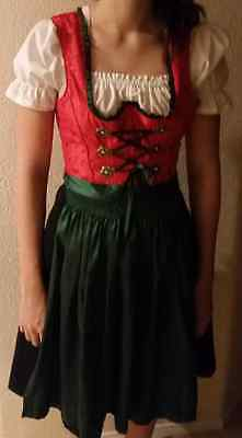 DIRNDL Trachten Oktoberfest Dress German Size: S German: 34 US:6