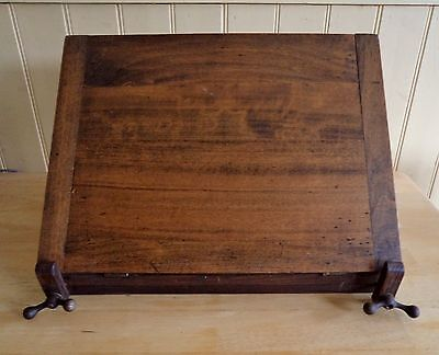 Vintage solid wood artists portable folding table top slope writing. Handle