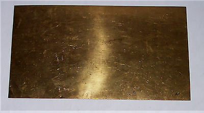 Gauge O – Metal – Brass sheet - 0.3mm - 275x150mm - see notes / pics Aa
