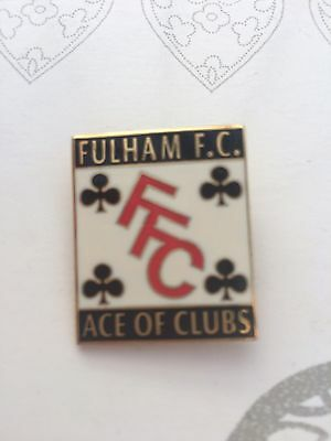 "Fulham FC ""Ace Of Clubs"" Badge"