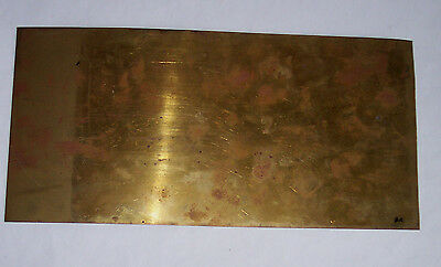 Gauge O – Metal – Brass sheet - 0.1mm - 300x150mm - see notes / pics Ba