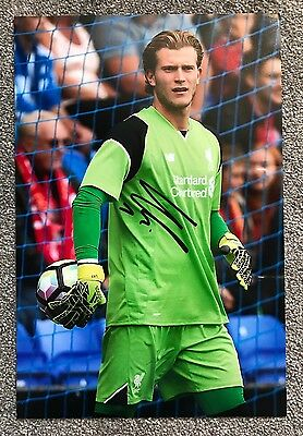 "Loris Karius Hand Signed 12x8"" Photograph Liverpool FC Authentic Autograph COA"