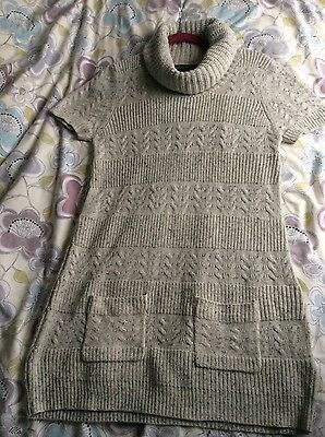 Long cowl neck maternity jumper / dress, Blooming Marvelous, size 12