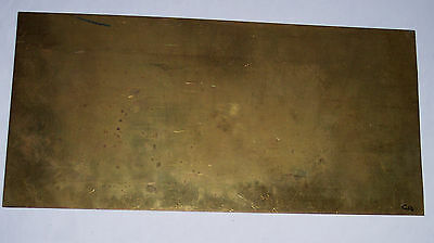 Gauge O – Metal – Brass sheet - 0.4mm - 350x170mm - see notes / pics Ca