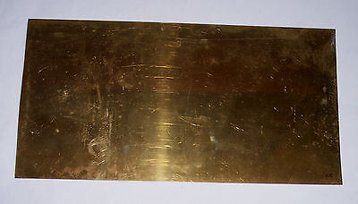 Gauge O – Metal – Brass sheet - 0.4mm - 330x170mm - see notes / pics Cc