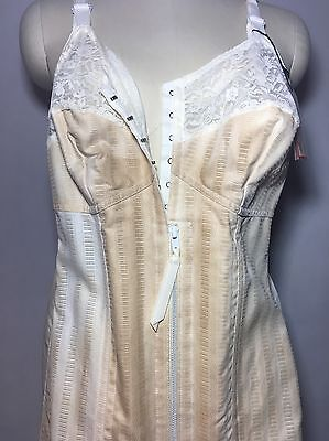 Size 42 Ivory Vintage Corset Girdle with Garters NuBack Nu-Back by Sears