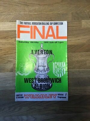 Everton V West Brom 1968 Fa Cup Final Programme
