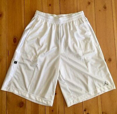 Nike Men's Jordan Baseline Basketball Shorts White New 323725-100 New XL