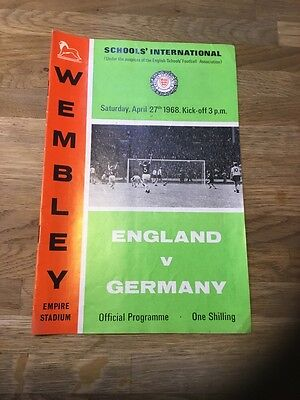 England V Germany Schools International Programme 1968