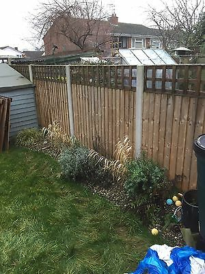 4ft Feather Edge Fence Panels & 1ft Trellis X5