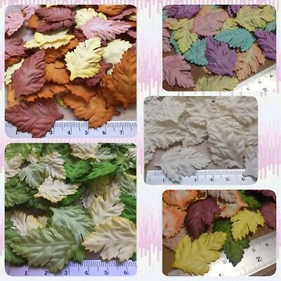 Artificial Mulberry Paper Flower Handmade Petal Scrapbooking Daisy leaf Craft#AU