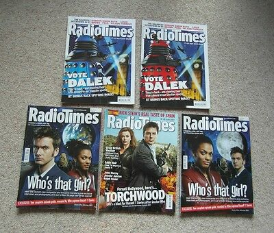 Collectable Radio Times, Doctor Who, 2007, 2010, 2011