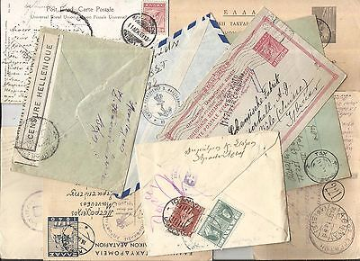 GREECE:WWI to WWII,1914-1945, AN ASSORTMENT OF 11 CENSORED COVERS,CARDS etc.*