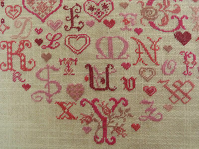 HERZ * ABC * Petit Point Stickerei