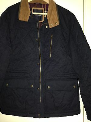 NEW..Size L Men's Navy Quilted Jacket/coat By Blue Harbour