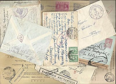 GREECE:WWI to WWII,1914-1945, AN ASSORTMENT OF 11 CENSORED COVERS,CARDS etc.**