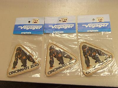 Vintage Cincinnati Zoo Gorilla Patches Lot Of 3 Never Opened In Packages