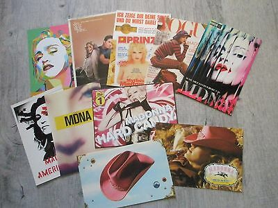 lot 10 cartes postales PROMO de Madonna POSTCARDS cartolina