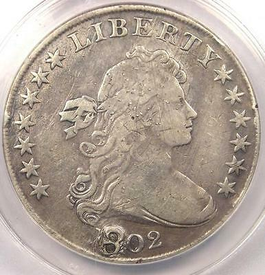 1802 Draped Bust Silver Dollar $1 - ANACS VF30 Details - Rare Certified Coin