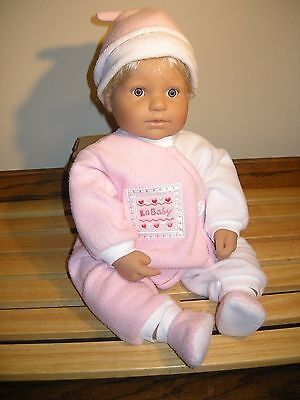 """Authentic Berenguer Boutique Baby Doll 22"""" Blue Eyes Blonde Hair Realistic"""