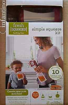 INFANTINO Fresh Squeezed Simple Squeeze Kit w/10 Single use pouches4fl.oz./118mL
