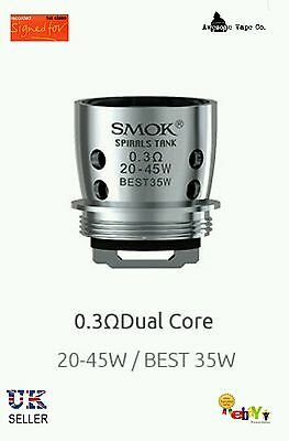 Smok Spirals Coils 0.3 ohm 5 Authenticity Guarantee 1st Class Recorded Delivery