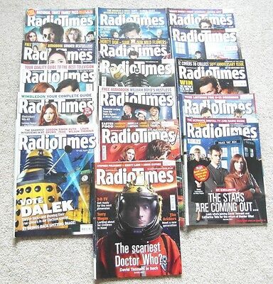 Collectable Radio Times, 16 issues, all with Doctor Who on the cover.
