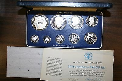 1978 Jamaica Proof Silver Set Minted Franklin Mint